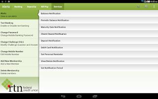 Screenshot of RTN FCU Mobile