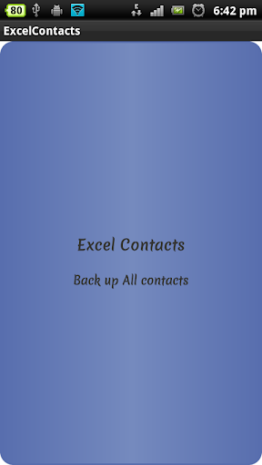 Excel Contacts