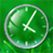 Glass Clock Widget 2x2