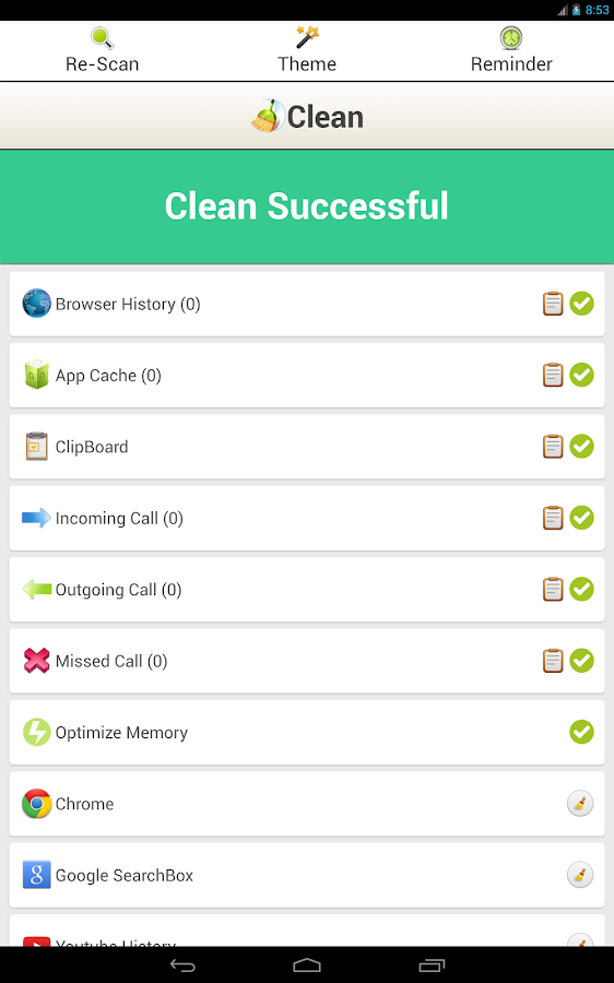 Clean History - Optimize - screenshot