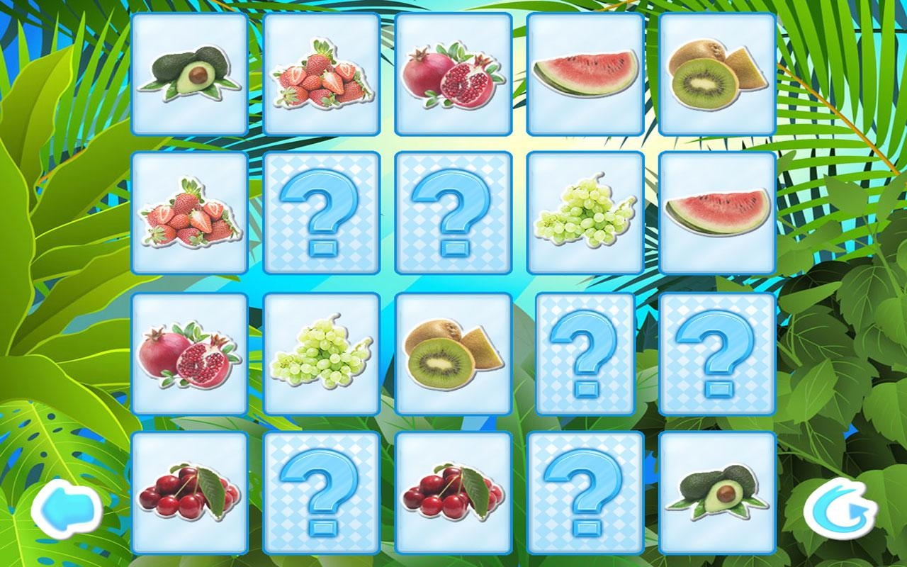 Fruits Memory Game for Kids - screenshot