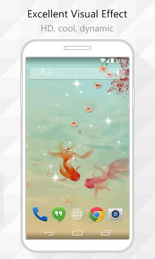 Golden Fish Live Wallpaper