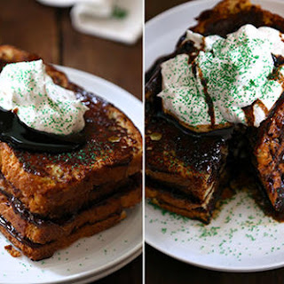 Chocolate Ganache-Stuffed French Toast with Cola Stout Syrup