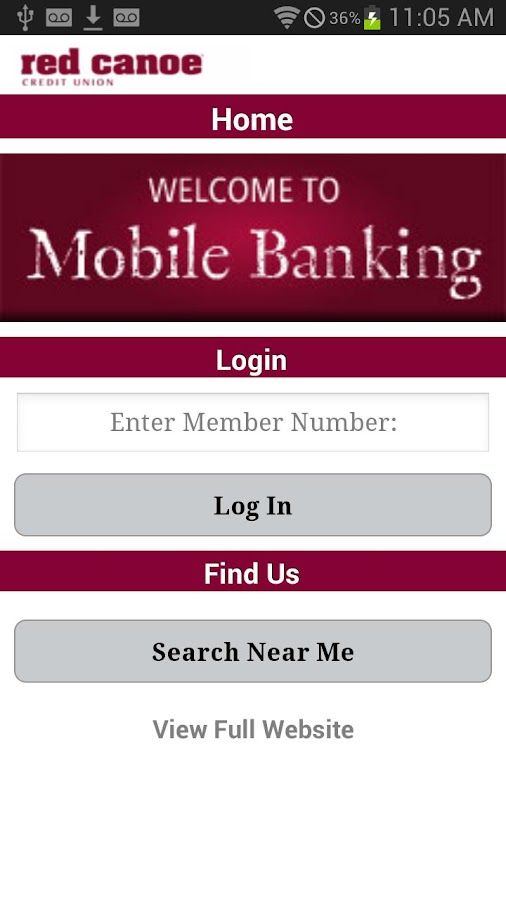 Red Canoe CU Mobile Banking - screenshot