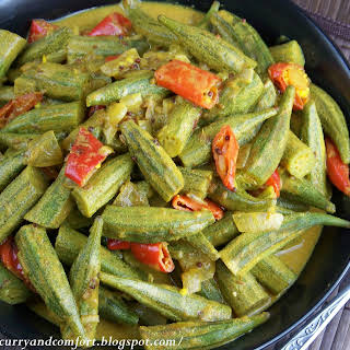 Okra Curry with Coconut Milk.