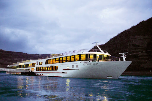 Discover romantic evening vistas as you embark on a river cruise of Europe's Rhine River aboard Viking Helvetia.