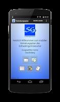 Screenshot of SG-Vertretungsplan