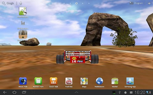 3D Car Racing Rocky Landscape - screenshot thumbnail