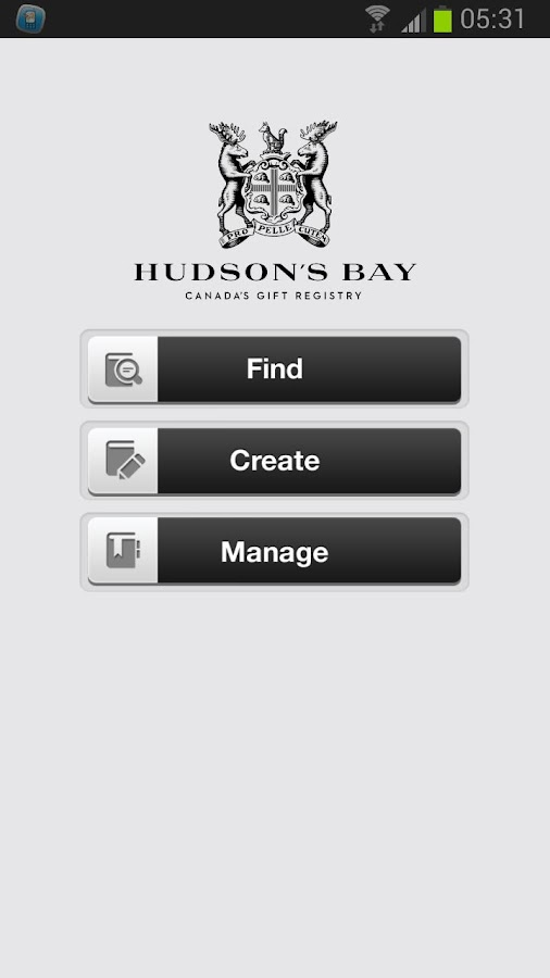 Hudson's Bay Gift Registry - screenshot