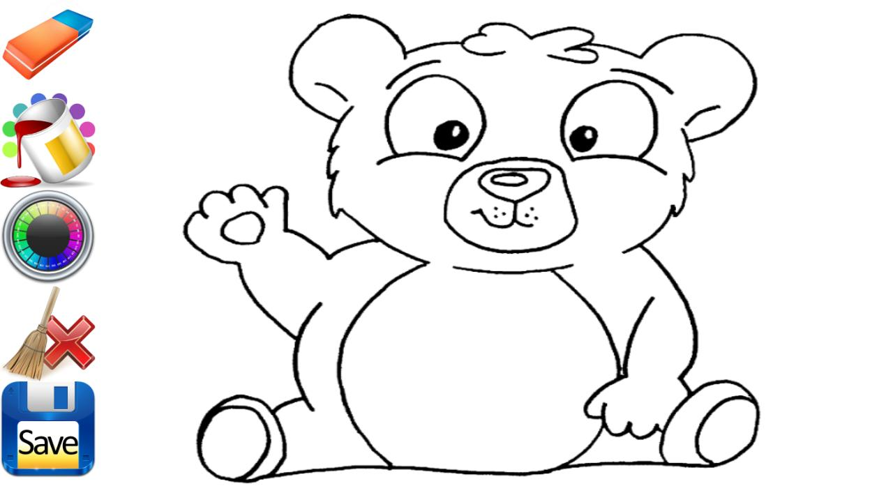kids coloring drawing sheets screenshot - Drawings For Kids To Color