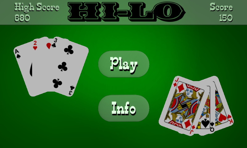 how to play high low card game