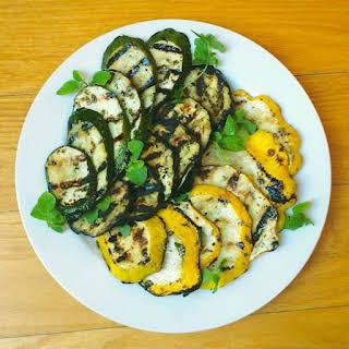 Greek Marinated Grilled Eggplant and Summer Squash.