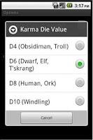 Screenshot of Earthdawn Dice Roller