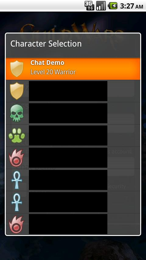 Guild Wars Mobile Chat - screenshot