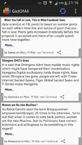 GistOfAll: News Article gist