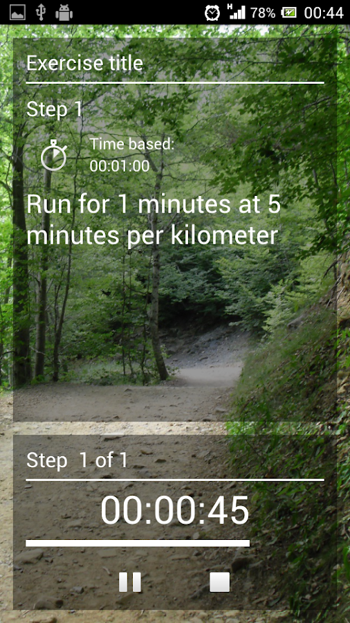 MyFartlek- screenshot