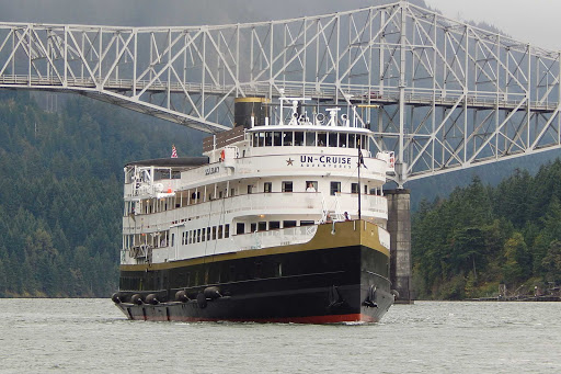 AdventureSmith offers family sailings on small cruise lines, such as Un-Cruise Adventures. Shown here, Un-Cruise's S.S. Legacy on the Columbia River.