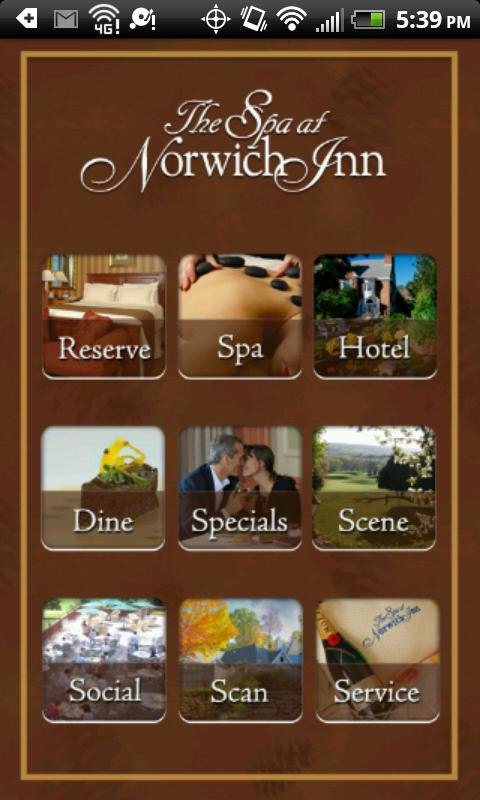 The Spa at Norwich Inn - screenshot