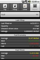 Screenshot of Mileage Tracker