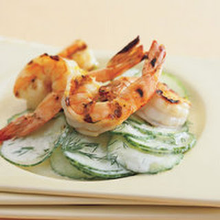 Grilled Shrimp with Cool Cucumber Salad Recipe