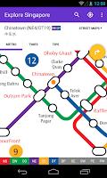 Screenshot of Explore Singapore MRT map