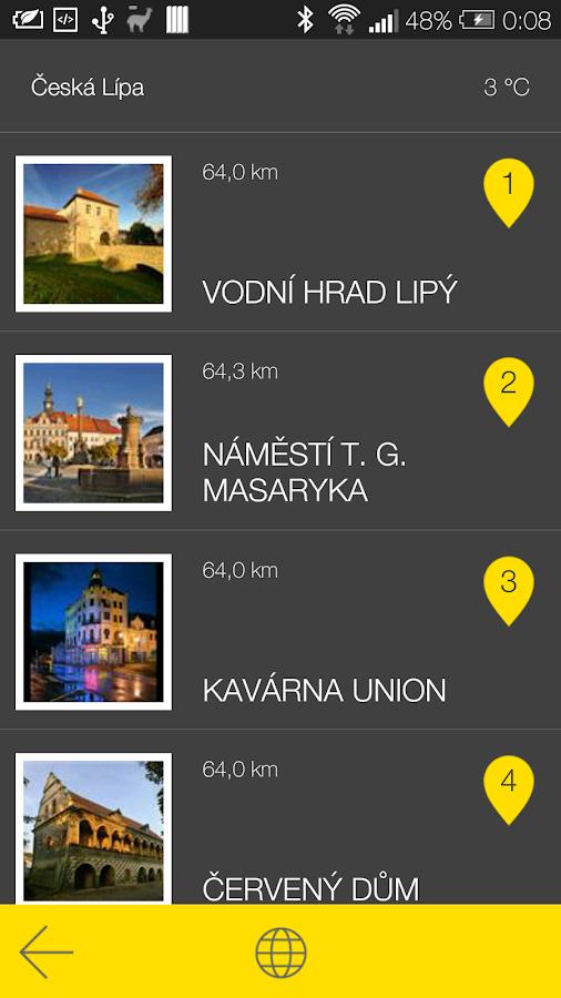 Česká Lípa - audio tour - screenshot
