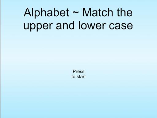Alphabet Match Letters