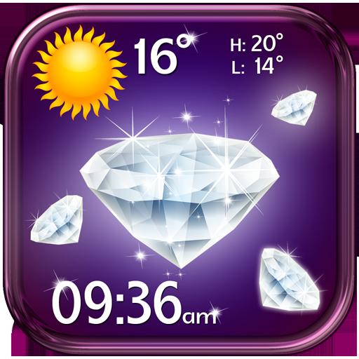 钻石时钟和天气小工具 天氣 LOGO-玩APPs