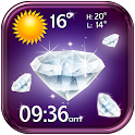 Diamants Widget Horloge Meteo icon