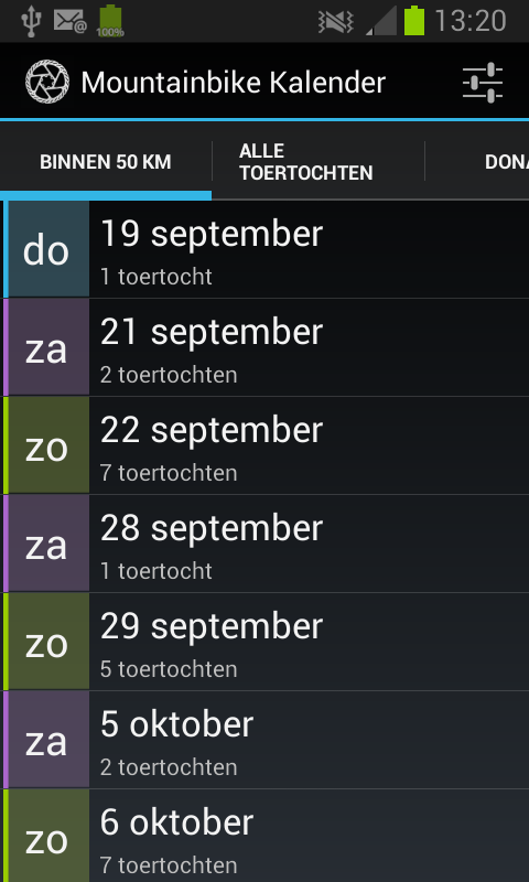 Mountainbike Kalender - screenshot