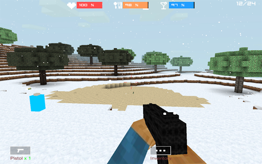 Cube Gun 3D : Winter Craft