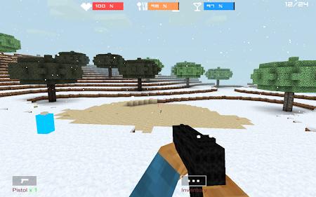 Cube Gun 3D : Winter Craft 1.0 screenshot 44140
