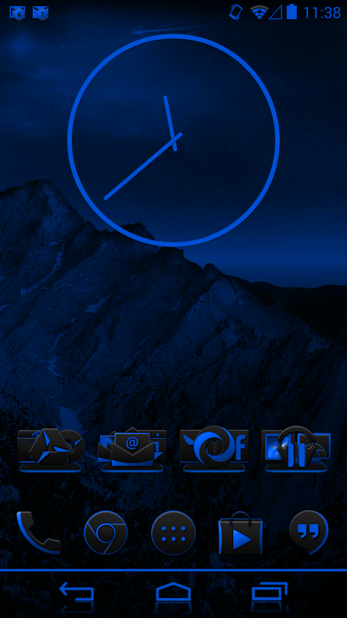 JB Extreme Theme Blue CM11 - screenshot