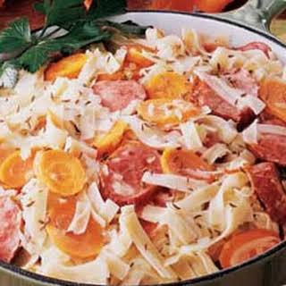 Bavarian Sausage Supper.