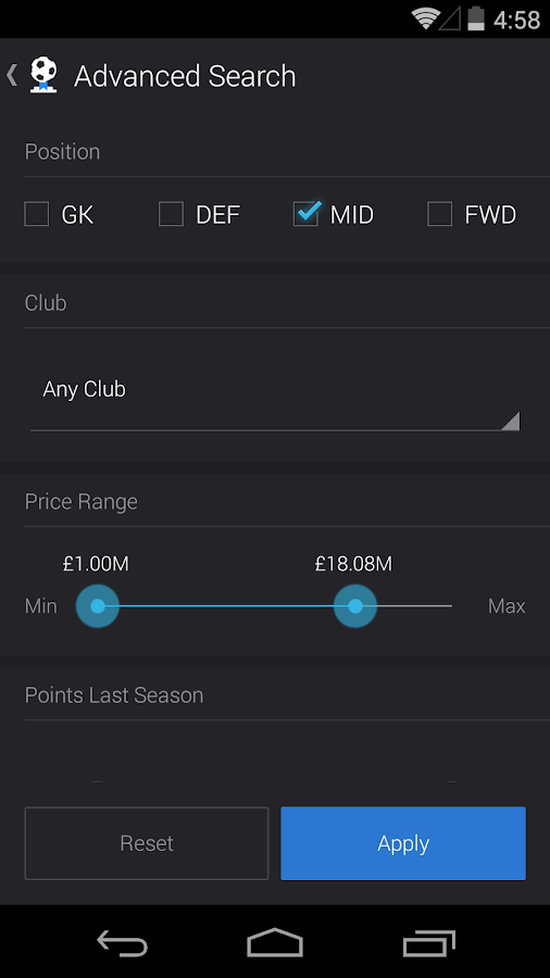 Fantasy Soccer - screenshot