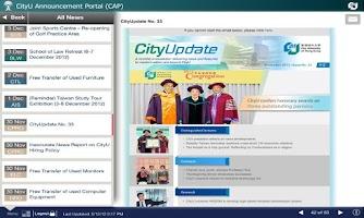 Screenshot of CityU Mobile CAP