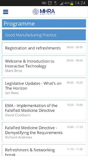 MHRA GMP GDP Event App 2013