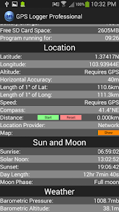 GPS Logger Professional Plus screenshot