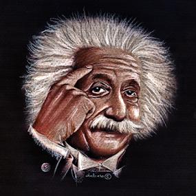 Albert Einstein - Drawing by Daliana Pacuraru - Drawing All Drawing ( celebrity, daliana pacuraru, albert einstein, crayons, portrait, drawing,  )
