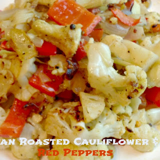 Pan Roasted Cauliflower and Red Peppers