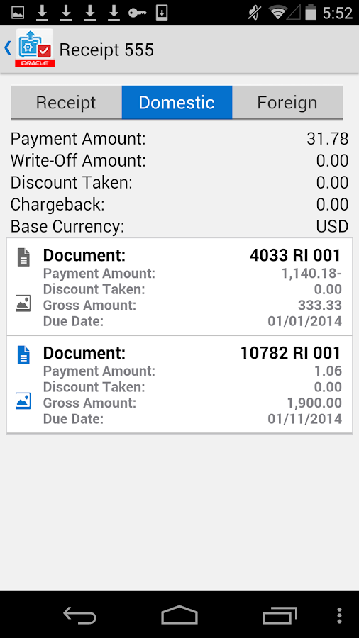 Receipt Batch Appr for JDE E1- screenshot