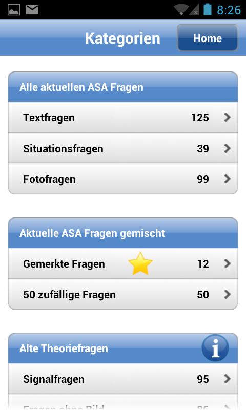 Theorieprüfung Auto 2015 - screenshot