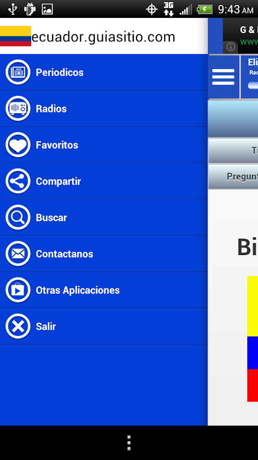 Ecuador Guide Radio and News - screenshot