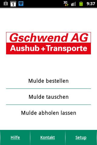 Muldenservice St. Gallen- screenshot