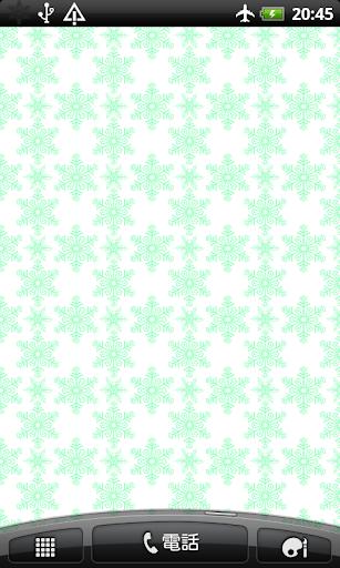 雪の模様 壁紙 無料版 Free
