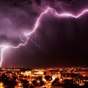 Thunder by Emanuel Correia - City,  Street & Park  Night