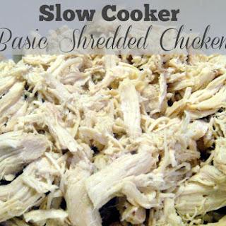 Slow Cooker Basic Shredded Chicken Filling.