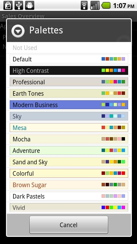 PowerGadgets Mobile- screenshot