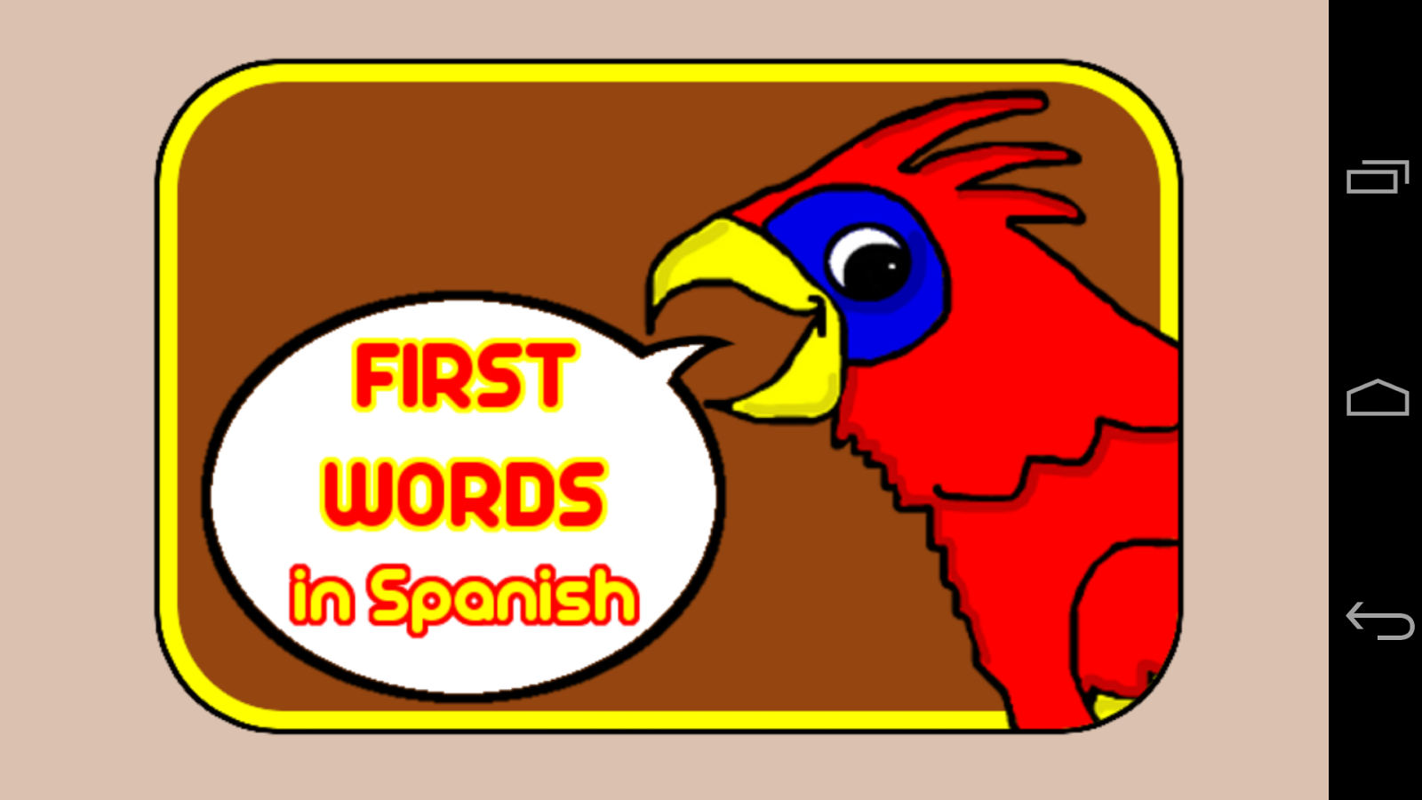 First Words in Spanish Lite - screenshot
