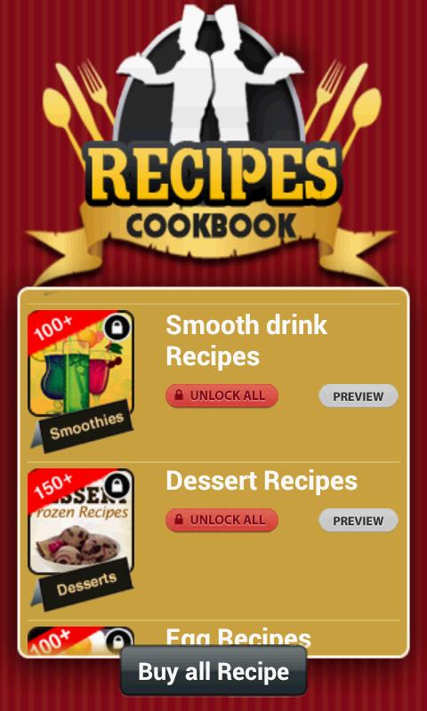 Recipes Cookbook - screenshot